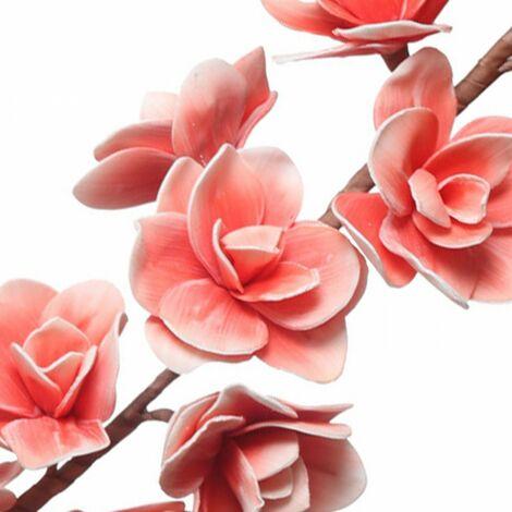 Flor artificial Aloysia de precioso color salmón para jarrón o pared. Hogar y Más