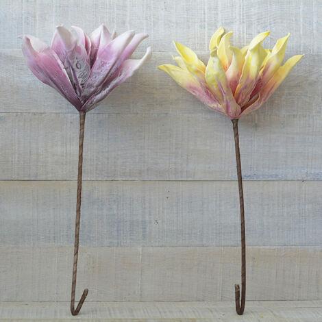 Flor artificial de Goma Eva acolchada (65cm) Dos colores, Hogar y mas Amarillo