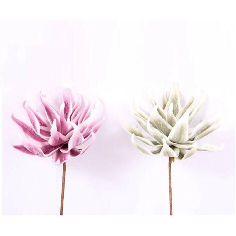 Flor artificial, eva acolchada (70 cm) dos colores Rosa