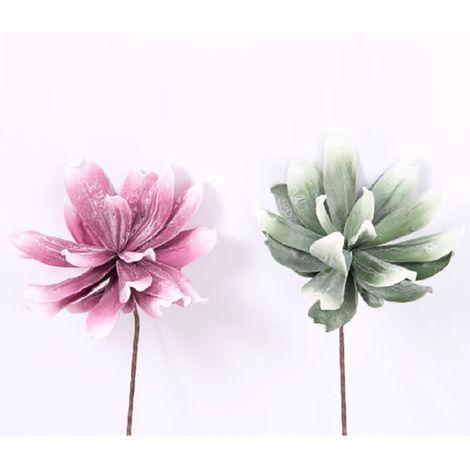 Flor artificial, eva acolchada (75 cm) dos colores Rosa