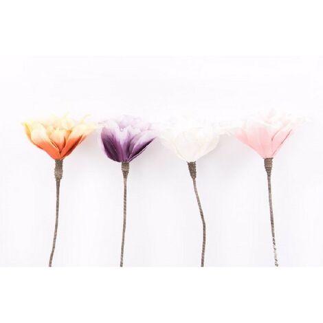 Flor artificial eva acolchada (77 cm). Cuatro colores Morado