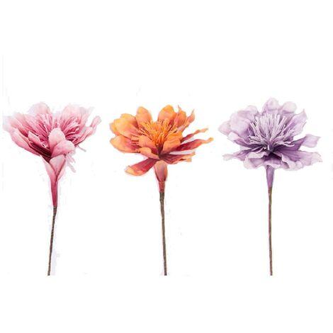 Flor artificial eva acolchada, Hogar y Mas Naranja
