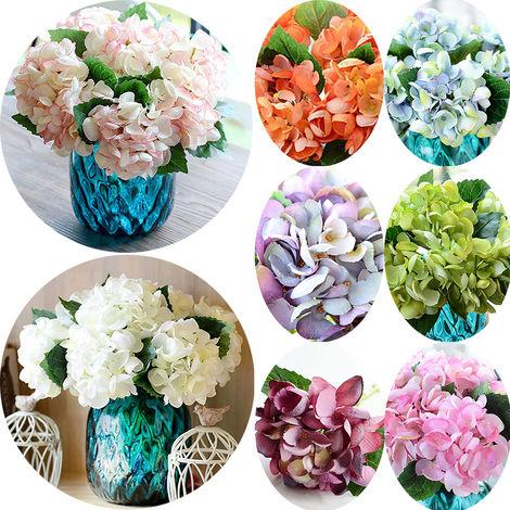 Flor artificial, flor de hortensia de concha de mar, blanco