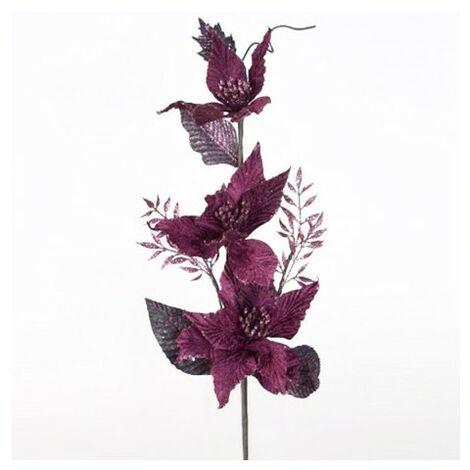 Flor Lila Decorativa para Jarron, Decoración de Interior/Hogar. Diseño Purpurina/Original 70 cm