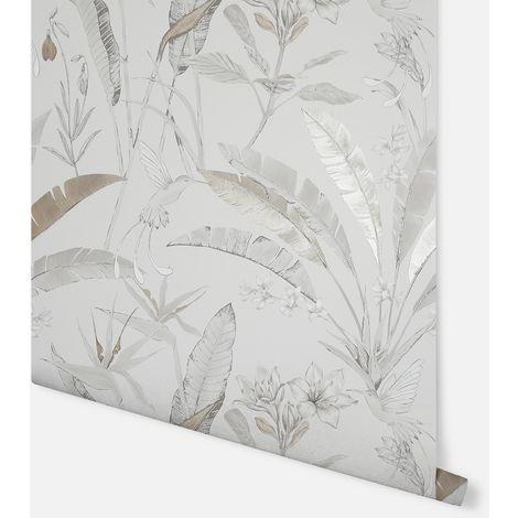 Floral Jungle Neutral Wallpaper - Arthouse - 908404