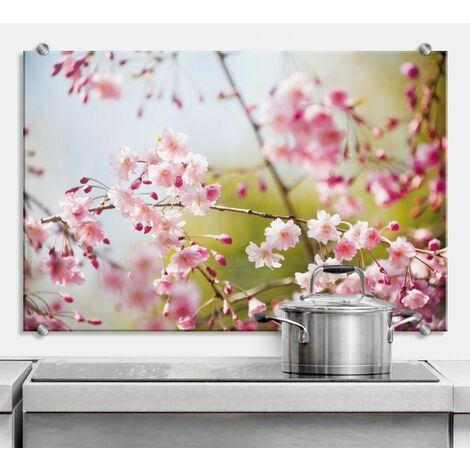 Floral Spritzschutz Herd Kirschblüten Küchenrückwand