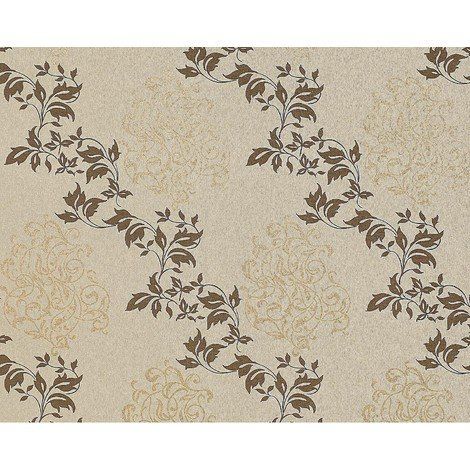 Floral wallpaper wall non-woven EDEM 946-25 Luxury classic leaf decor cocoa brown brown-grey bronze 10.65 sqm (114 sq ft)