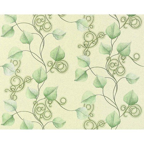 Floral wallpaper wall non-woven EDEM 950-28 luxury embossed flowers leafs decor pastel light green 10.65 sqm (114 sq ft)