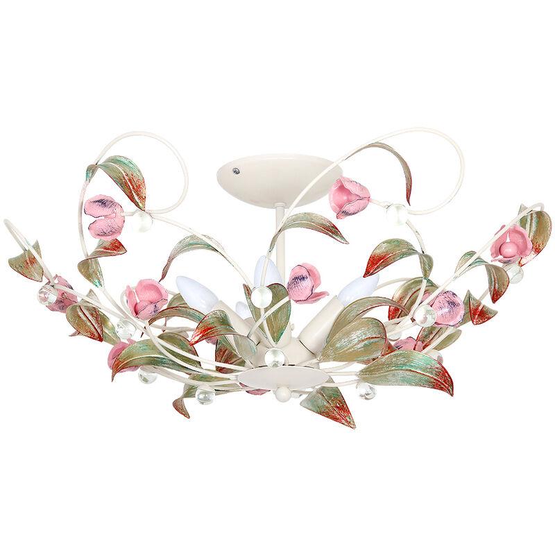 Florale Deckenleuchte ROSE Ø64cm 5-flmg - LICHT-ERLEBNISSE
