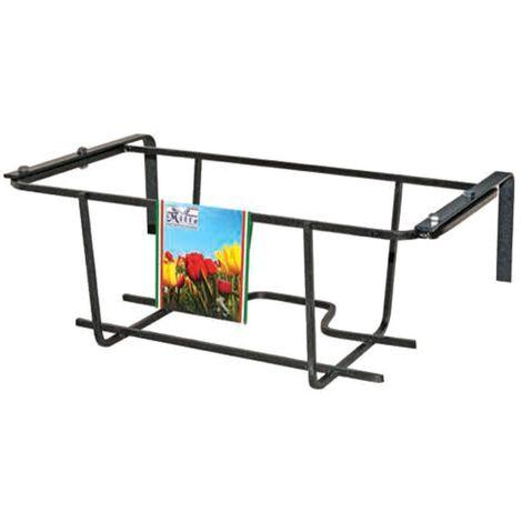 Florero de balcón TULIPANO 22x40x18 cm ARTIGIAN FERRO Art 750.A ajustable