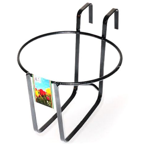 Florero redondo de balcón GERANIO Art. 752 ARTIGIAN FERRO 22x18h cm
