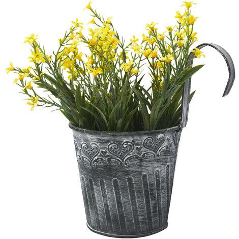 Flores artificiales en maceta colgante con gancho para balcón - Edición France - Hogar y más B