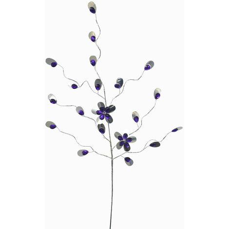 Flores Artificiales para Decoración de Jarrones, de color Morado y Plata. Diseño Flexible, con estilo Original - Hogar y Más