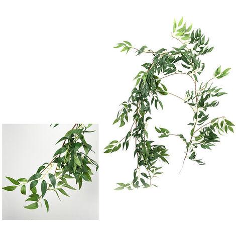 Flores artificiales y ramas muertas planta ratan, arreglo de boda