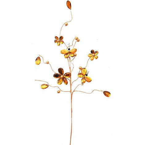 Flores Naranjas Decorativas para Jarron, Decoración de Interior. Diseño Flexible/Mariposa 64 cm