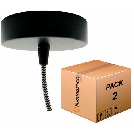 Florón Aluminio Negro | IluminaShop