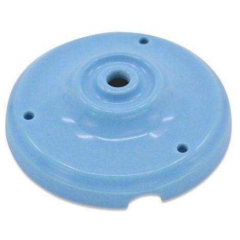 Floron de ceramica para lamparas Azul