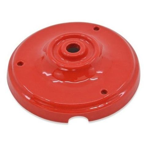 Floron de ceramica para lamparas Rojo