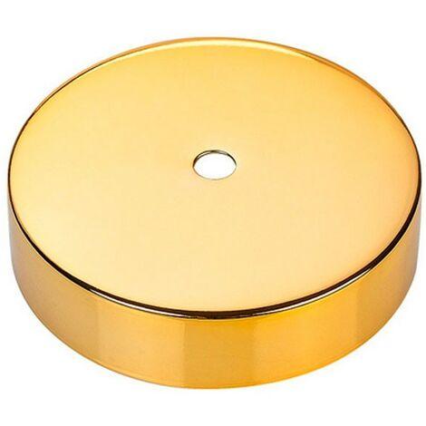 Florón metálico vintage oro brillante