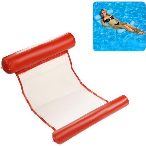 Flotador de la piscina Hamaca multiuso inflable agua Hamaca Hamaca Salon, rojo