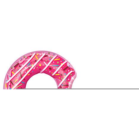 Flotador Donut Gigante Rosa / Chocolate Ø 107 cm.