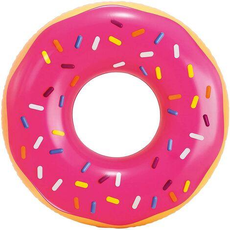 Flotador piscina 99x25 cm hinchable intex pink frosted donut 56256np