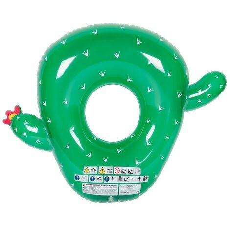 Flotador redondo XXL para piscina y playa - Cactus ø130cm