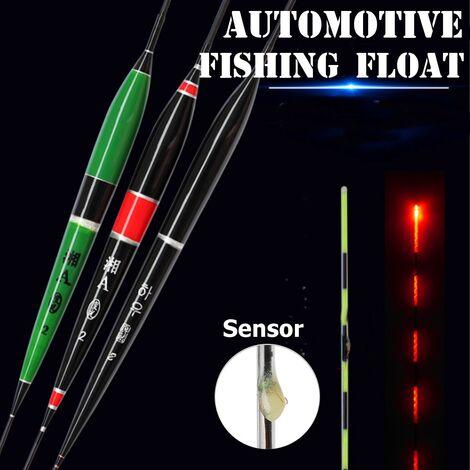 Flotteur de pêche automatique morsure de poisson 3 pièces LED éclairage lumineux de nuit rappeler Kit de bouée électrique rougeoyant