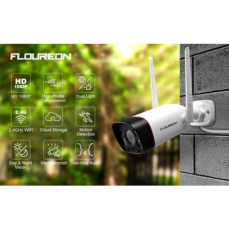 FLOUREON 2 *, défense active de détection active de mouvement de la caméra de sécurité 1080P sans fil wifi d'IP