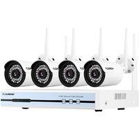 Floureon 4CH 1080P WIFI Wireless DVR NVR 720P IR-CUT IP Camera Outdoor Security