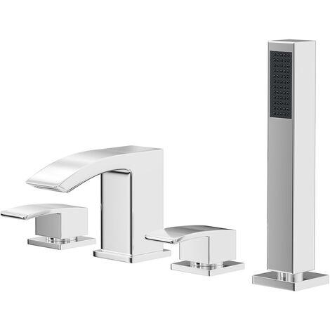 Flow 4 Hole Bath Shower Mixer Tap