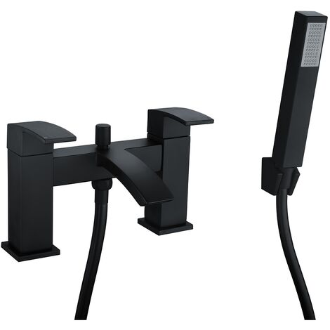 Flow Black Bath Shower Mixer Tap & Kit