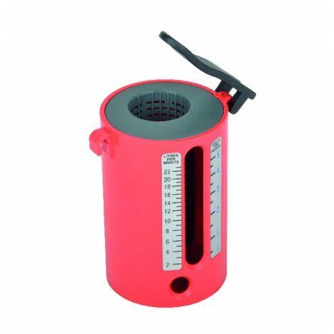 Flow measure pvc au tomatic cup 2 22l/mn