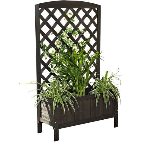 Flower box Rankkasten Rankgitter Flower stand Rankhilfe Flower tub Black