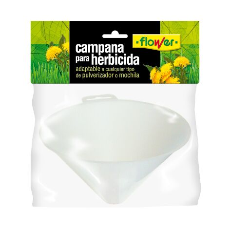 FLOWER Campana para Aplicación de Herbicidas, Adaptable a Pulverizador, Atomizador o Mochila