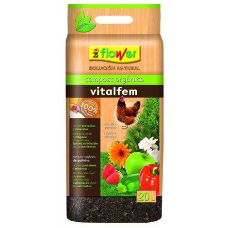 Flower Compost Vitalfem Gallinaza 4-80126 20 L