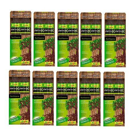 FLOWER Fertilizante Líquido Directo al Árbol Platinum 10, Suspensión Concentrada, Caja 10 x 200 ml