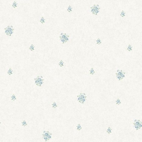Flower Floral Wallpaper Blue Metallic Mica Shimmer Country Holden Eden Hall