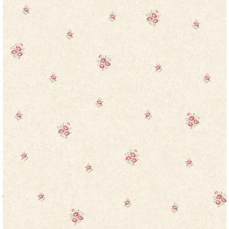 Flower Floral Wallpaper Pink Metallic Mica Shimmer Country Holden Eden Hall