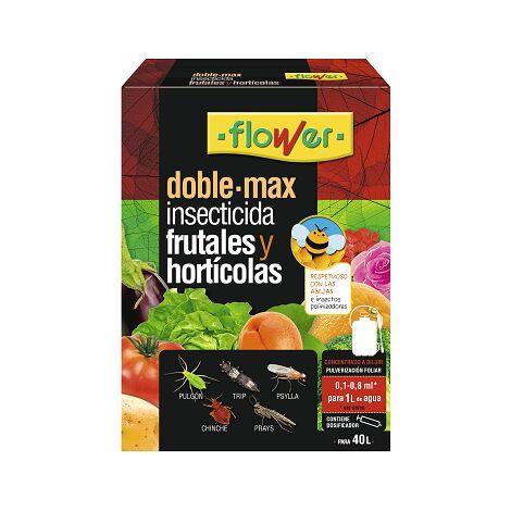 FLOWER Insecticida DOBLE MAX Frutales y Hortícolas, Tau-Fluvalinato 24%, Bote 8 ml