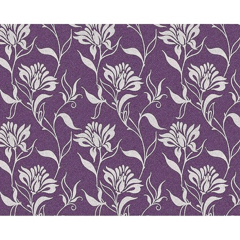 Flower non-woven wallpaper wall EDEM 939-39 heavyweight floral pattern violet silver-grey 10.65 sqm (114 sq ft)