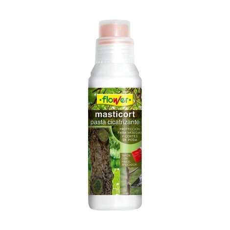 FLOWER Pasta Cicatrizante para Podas y Heridas MASTICORT, 250 gr (con pincel aplicador)