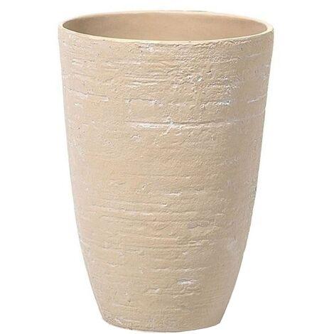 "main image of ""Flower Planter Tall Stone Garden Plant Pot Indoor Outdoor Beige 35x50 cm Camia"""