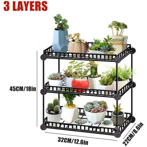 Flower Pot Stand Garden Rack Plant Metal Shelf Decor 6 Layers