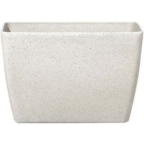 Flower Pot Stone Beige 60 x 27 x 41 cm BARIS