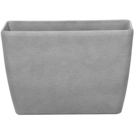 Flower Pot Stone Grey 60 x 27 x 41 cm BARIS