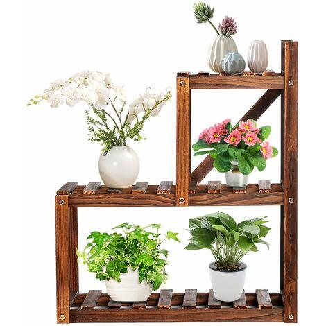 Flower Shelf Wooden Plant Shelf Flower Holder 56 * 28 * 65 cm