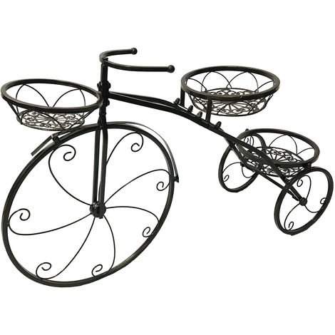 Flower stair plant stand bike shape flower stand planting metal 52 * 41 * 8cm