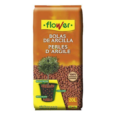 FLOWER STYLE Bolas de Arcilla Roja para Macetas y Jardineras, 20 Litros