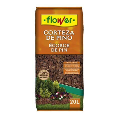 FLOWER STYLE Corteza de Pino 8/15 para Macetas y Jardineras, 20 Litros